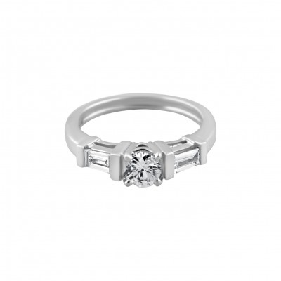 Diamond Engagement Ring White Gold 1.87CT Prong