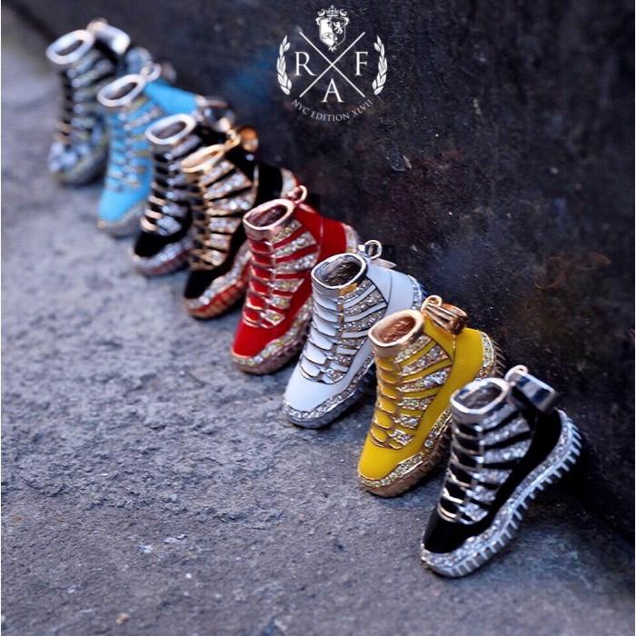 Custom gold sneaker pendant aloadofball Image collections