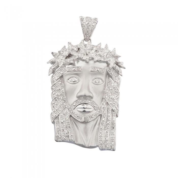 Inch diamond jesus head pendant white gold 85 ct micro pave 201 gr 23 inch diamond jesus head pendant white gold 85 ct micro pave 201 gr aloadofball Images