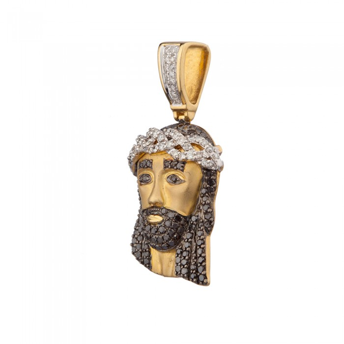 15 inch black diamond jesus head pendant yellow gold 145 ct micro 15 inch black diamond jesus head pendant yellow gold 145 ct micro pave 74 gr mozeypictures Gallery