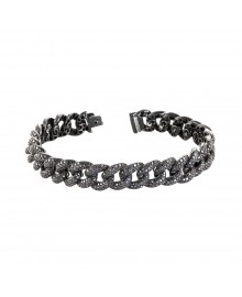 Miami Cuban Link Black Diamond Bracelet