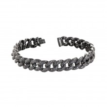 Miami Cuban Link Black Diamond Bracelet