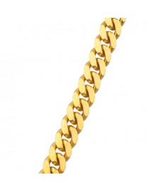 15MM Solid Gold Miami Cuban Link Chain