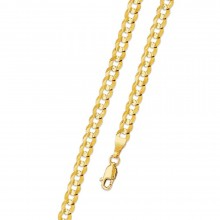 3MM Solid Gold Cuban Link Chain