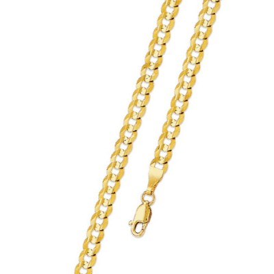 3.5MM Solid Gold Cuban Link Chain