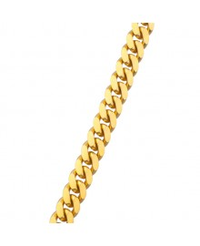 12MM Solid Gold Miami Cuban Link Chain