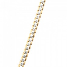 3MM Solid Gold Diamond Cut Cuban Link Chain