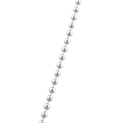3MM Ball Chain White 14K Gold 21.6 Gr