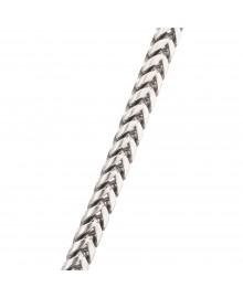 5.4MM Franco Chain White 10K Gold 113.6 Gr