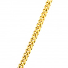 3MM Solid Gold Miami Cuban Link Chain