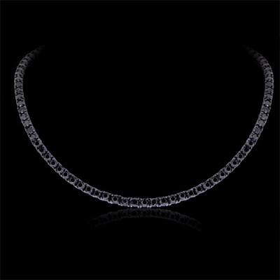 Black Diamond Chain Necklace