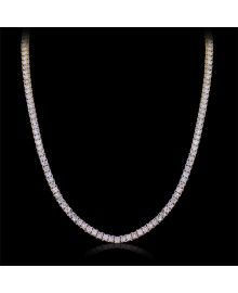White Diamond Tennis Chain Necklace