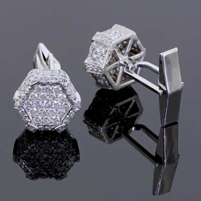 White Diamond Cufflinks