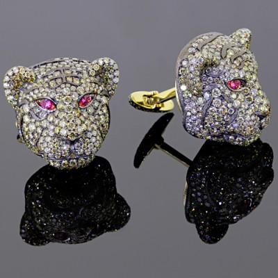 Diamond Lion Cufflinks