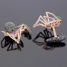 Black Diamond Spider Cufflinks