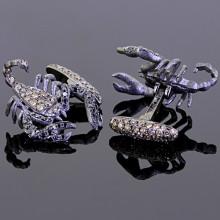 Black Brown Diamond Scorpion Cufflinks