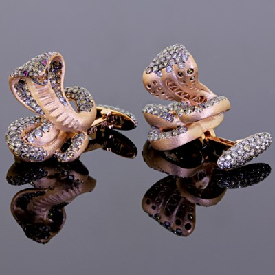 Diamond Cobra Cufflinks
