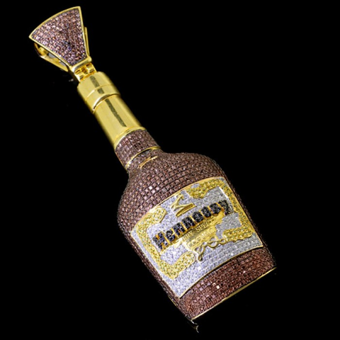 Diamond Hennessy Pendant White Gold Micro Pave\'