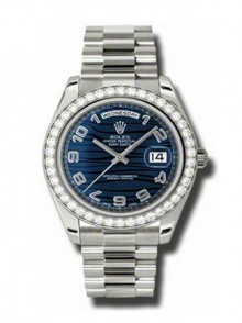 Rolex Day-Date II President White Gold - Diamond Bezel