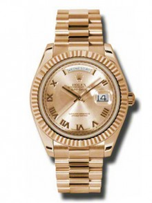 Rolex Day-Date II President Rose Gold - Fluted Bezel