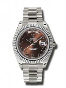 Rolex Day-Date II President White Gold - Fluted Bezel