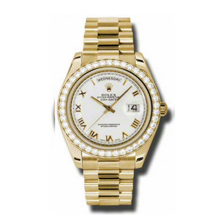 Gold Rolex With Diamonds