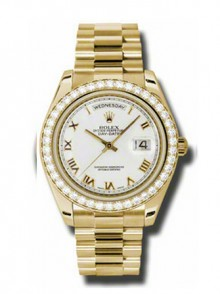 Rolex Day-Date II President Yellow Gold - Diamond Bezel