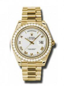 Rolex Day-Date II PresidentYellow Gold - Diamond Bezel