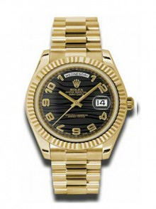 Rolex Day-Date II President Yellow Gold - Fluted Bezel