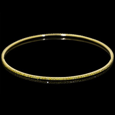White & Yellow Diamond Bangle White & Yellow 18K Gold W: 1.63 ct & Y: 1.70 ct Pave' W: 5.65 g & Y: 5.52 g