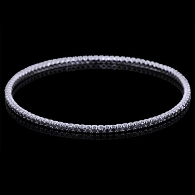 Black Diamond Single Bangle Bracelet