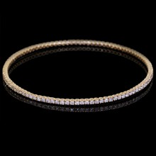 White Diamond Single Bangle Bracelet