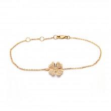 Four-Leaf Clover Diamond Bracelet