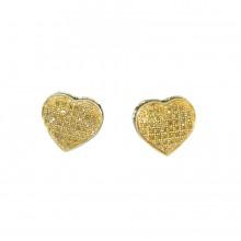 Yellow Diamond Stud Earrings Yellow 10K Gold Dia: 0.2 g & Gold: 1.35 g