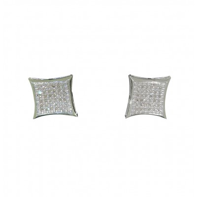 Diamond Stud Earrings White 10K Gold Dia: 0.28 g & Gold: 2.28 g