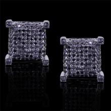 Black Diamond Stud Earrings Black 14K Gold 1.02 ct. Micro Pave' 4 g