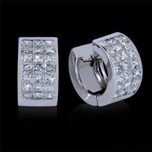 Diamond Hoop Earrings White Gold Invis