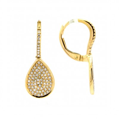 Teardrop Earrings with Diamonds