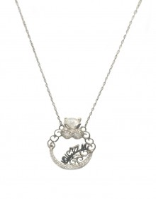 Engagement Ring Charm Necklace