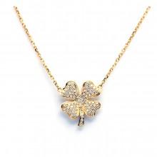 Four-Leaf Clover Diamond Necklace