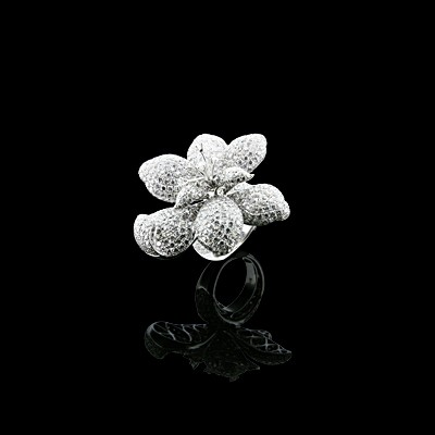 Diamond Cocktail Ring White Gold Micro Pave'