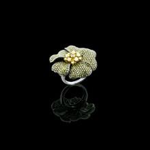 Diamond Cocktail Ring White Gold Micro Pave'