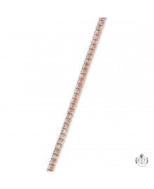 3mm Ice Chain Diamond Cut 14K Rose Gold