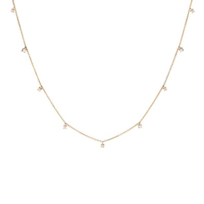 Nine Stone Diamond Necklace