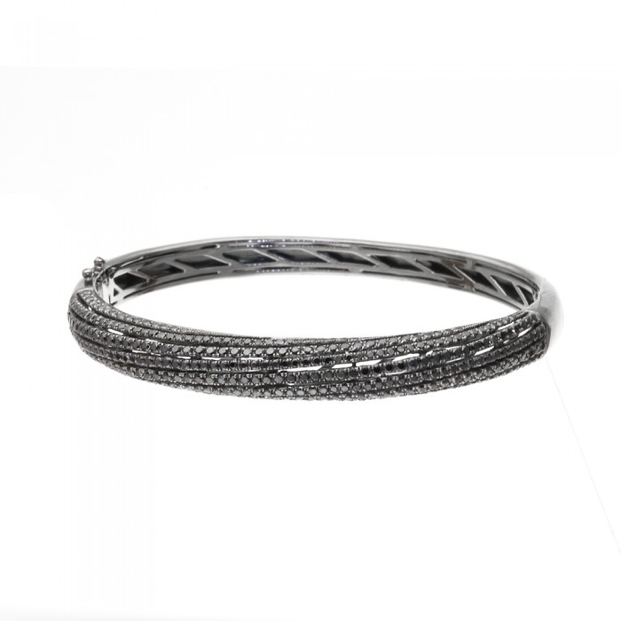 black bracelets stainless steel bangle bangles crystal zoom bracelet rows product
