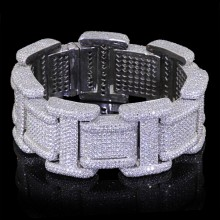 Diamond Tennis Bracelet White Gold Micro Pave'