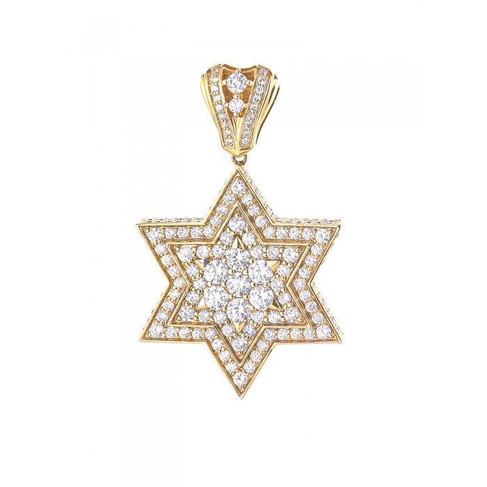 Star of david diamond pendant in prong micro pave aloadofball Choice Image