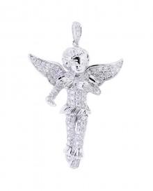 Gabriel's Angel Diamond Pendant In Micro Pave'