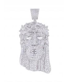 2.5 Inch Luxurious Jesus Piece Diamond Pendant
