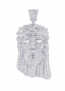 2.5 Inch Luxurious Jesus Piece Diamond Pendant